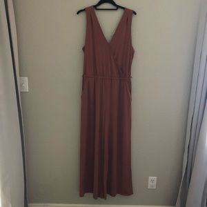 NWT A New Day V Neck Wide Leg Jumpsuit M